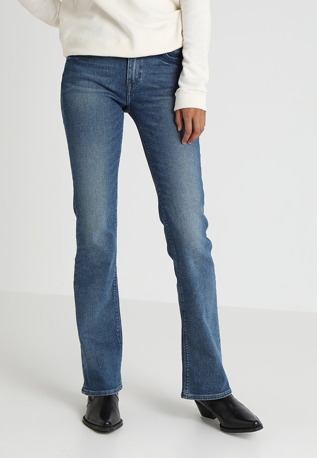 HOXIE - Bootcut jeans - light blue denim