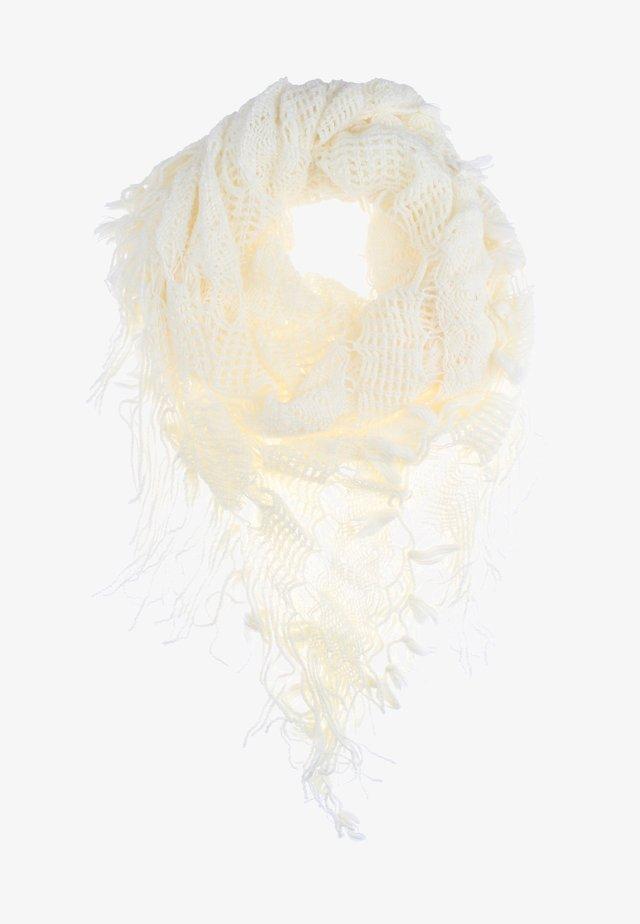 Kruhová šála - wollweiss
