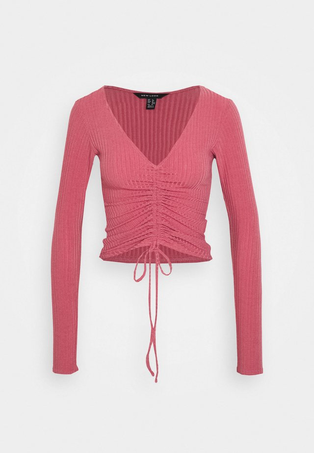 RUCHED FRONT - Longsleeve - light pink