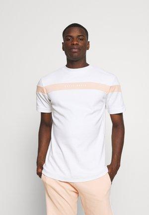 BLOCK PANEL SET UNISEX - T-shirt print - white