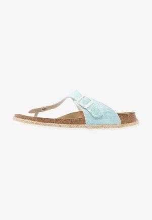 GIZEH - T-bar sandals - beach/light blue