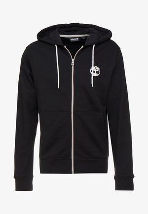 ZIP HOODIE - Zip-up hoodie - black