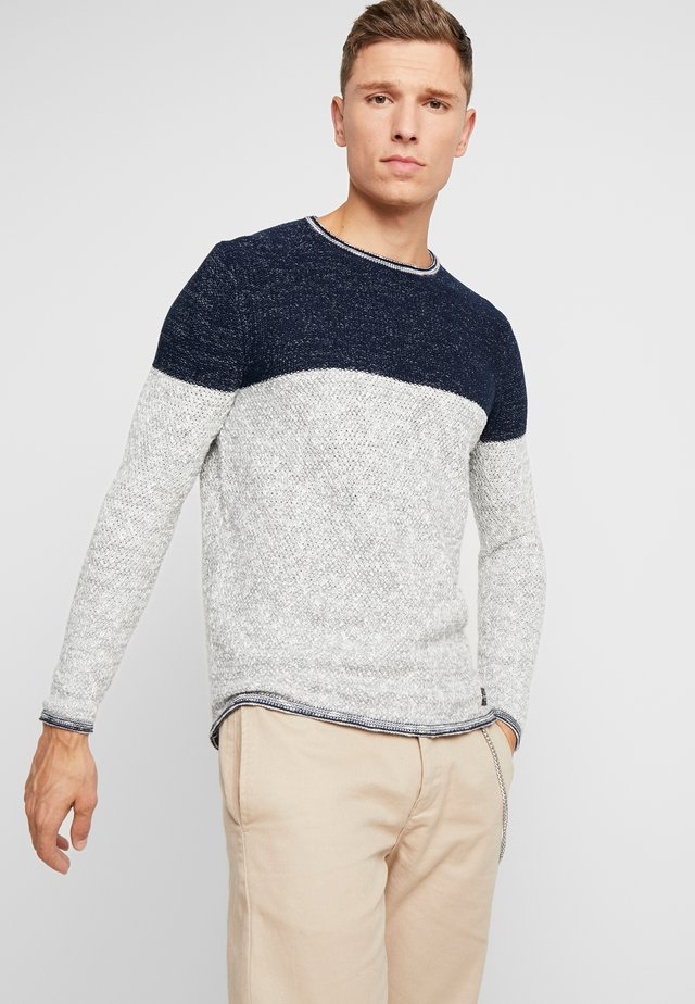 HAMILTON NEW ROUND NECK - Jumper - navy/silver