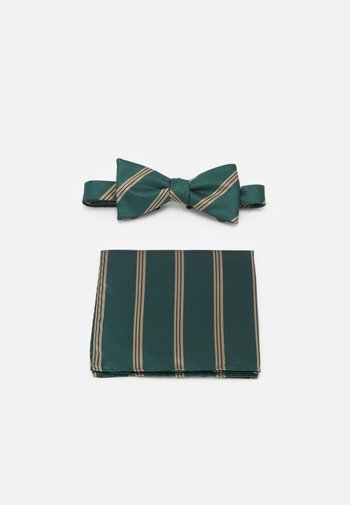 SLHSULLY TIE BOWTIE BOX SET - Motýlek - dark green
