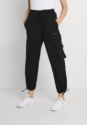 CLASH PANT - Cargo trousers - black/smoke grey