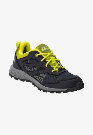 WOODLAND - Hiking shoes - black / lime