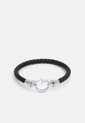 ROUND UNISEX - Rannekoru - black/antique silver-coloured shiny