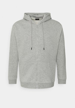 ONSCERES LIFE ZIP HOODIE - Huvtröja med dragkedja - light grey melange