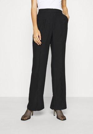 DRESSED SIDE SLIT PANTS - Pantalon classique - black