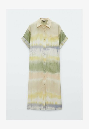 TIE DYE - Shirt dress - green