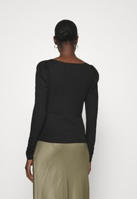 Dorothy Perkins - TRIM RUCHED SLEEVE - Long sleeved top - black - 2