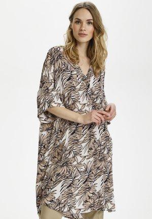 KALIFA AMBER  - Tunika - classic sand leaf print