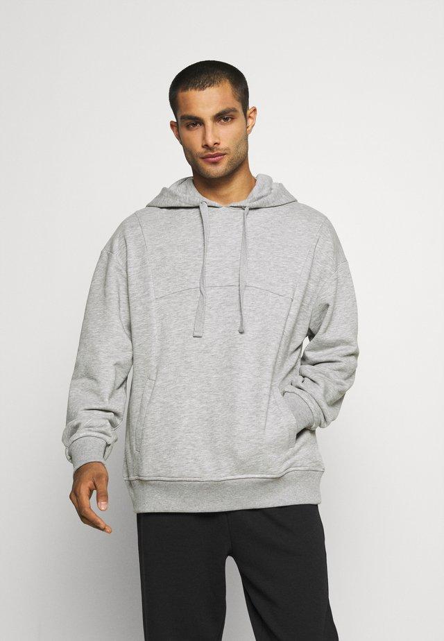 TRAINING HOODIE - Sweatshirt - gray melange