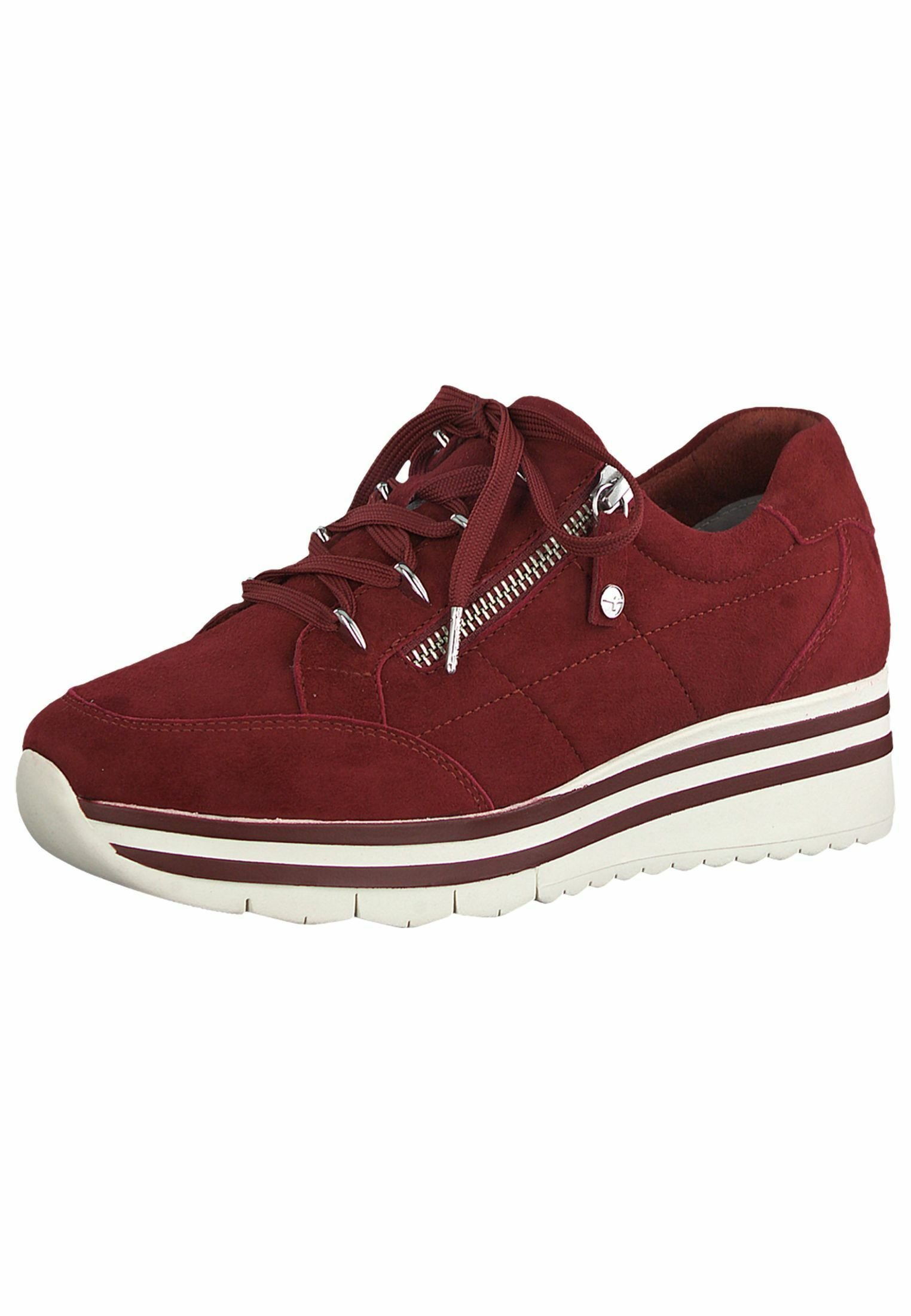 Tamaris Pure Relax LACE UP Sneaker low scarlet suede/rot