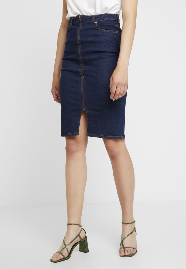 BYLONDA SKIRT - Falda de tubo - dark blue denim