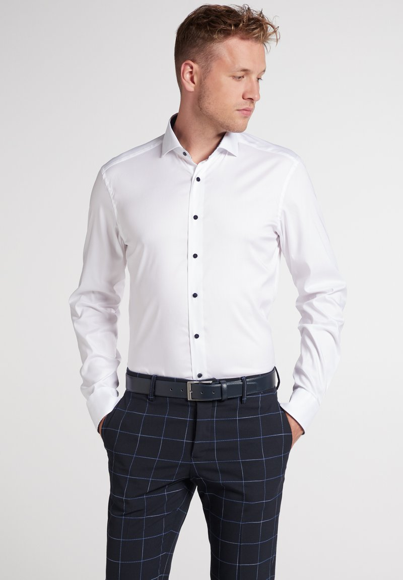 Eterna - SLIM FIT - Shirt - weiß