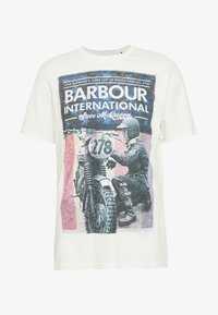 Barbour International - Print T-shirt - whisper white