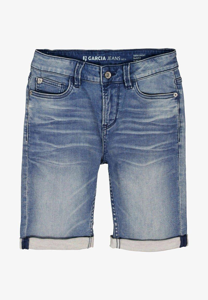 Garcia - TAVIO  - Denim shorts - blue