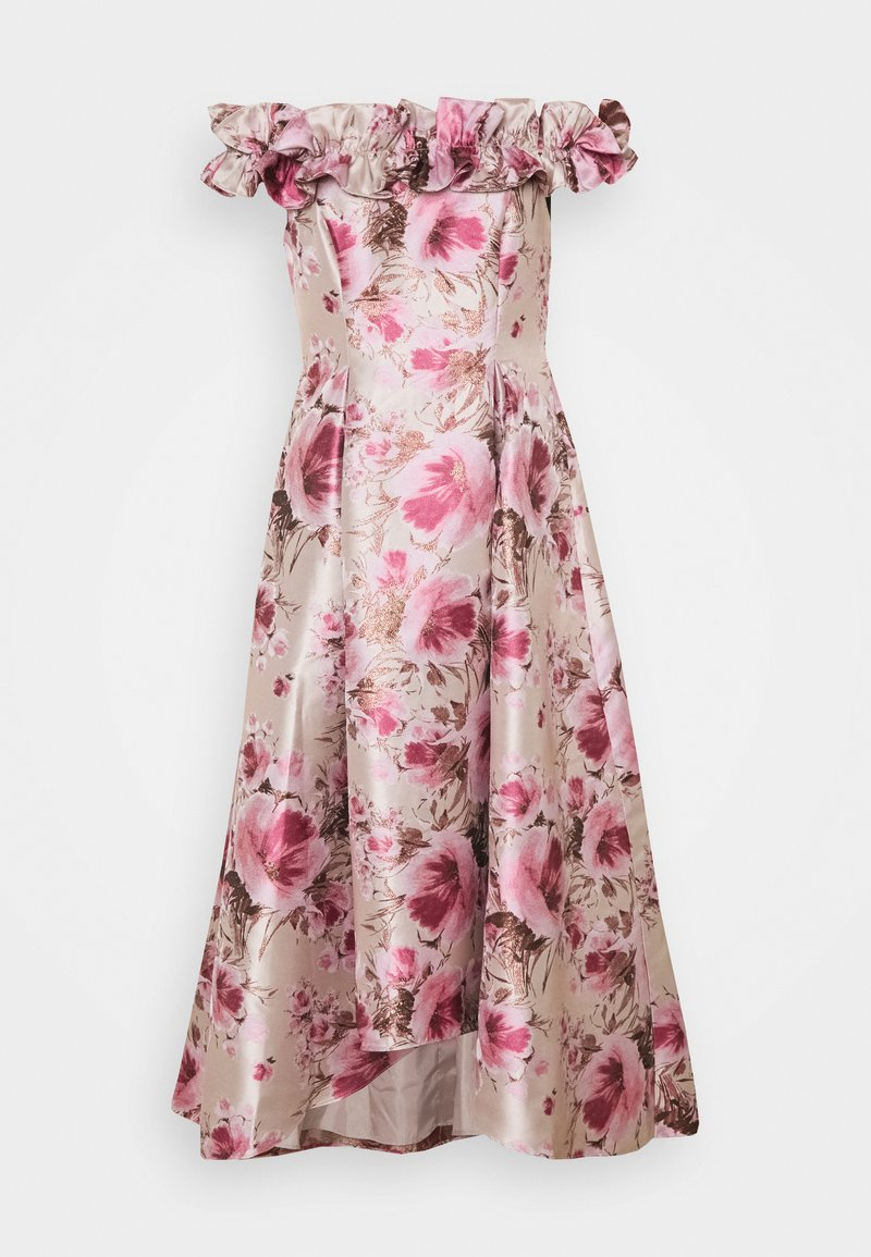 Adrianna Papell - FLORAL HI LOW GOWN - Cocktail dress / Party dress - silver/blush