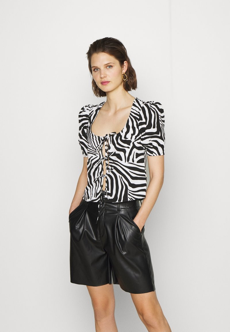 Who What Wear - THE TIE FRONT - Blouse - white