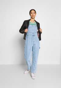 Monki - CIARA DUNGAREES - Overall /Buksedragter - blue medium dusty - 1