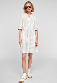 Q/S designed by - Day dress - beige stripes - 1