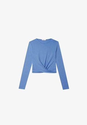 IN WICKELOPTIK - Top sdlouhým rukávem - blue