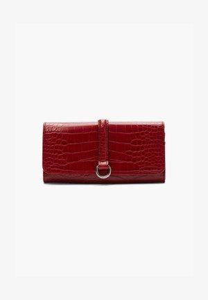 IN REPTILLEDER-OPTIK - Wallet - burned red