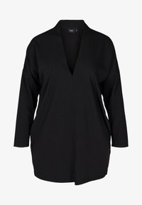 Zizzi - LONG-SLEEVED WITH A V-NECK - Tunique - black - 3