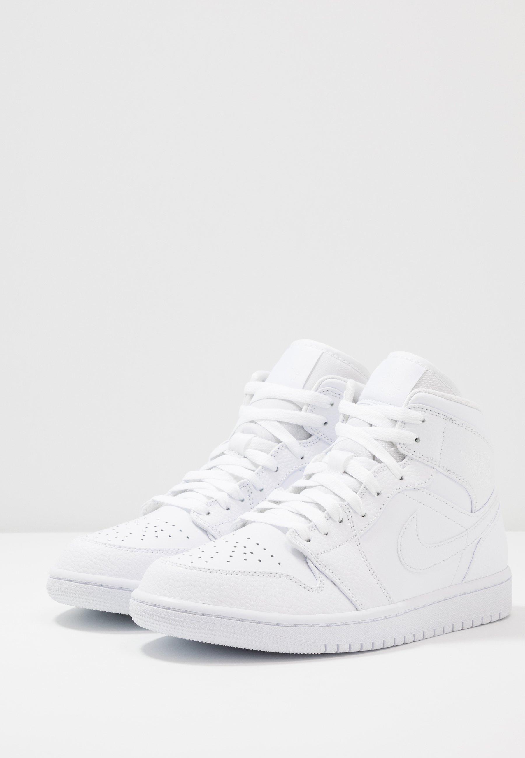 AIR JORDAN 1 MID - Baskets montantes - white