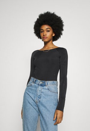 MELAM BOAT SLIM - Long sleeved top - black