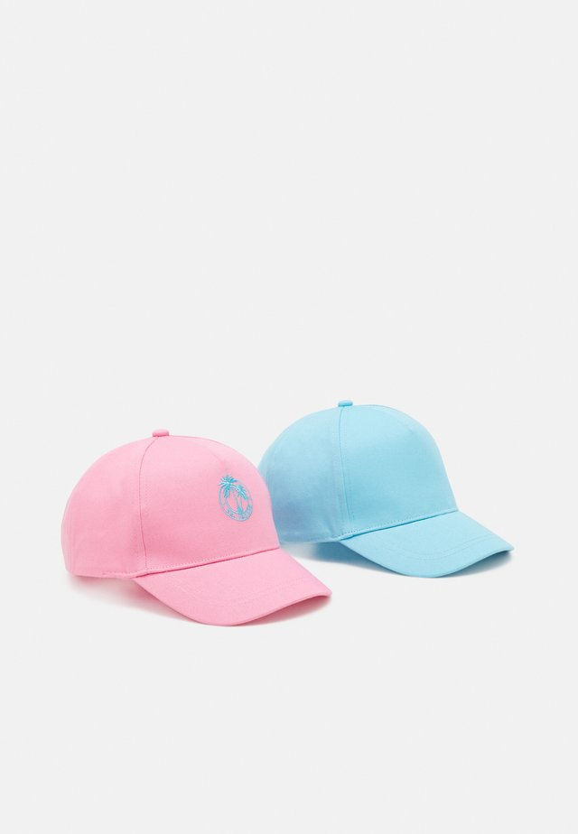 NKFBANU 2 PACK UNISEX - Cappellino - prism pink/blue tint solid