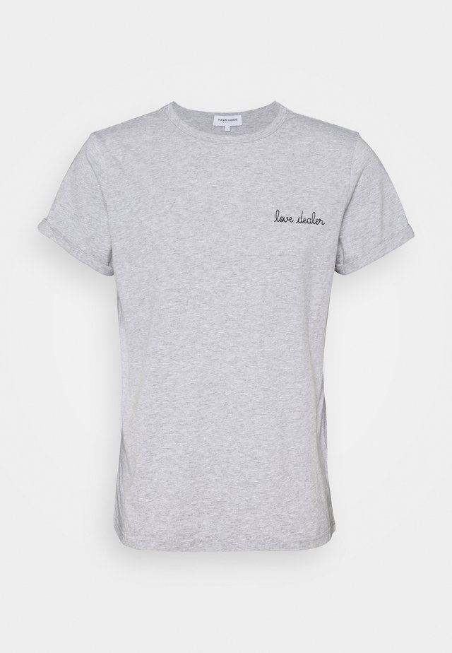 CLASSIC TEE LOVE DEALER - Triko s potiskem - light heather grey