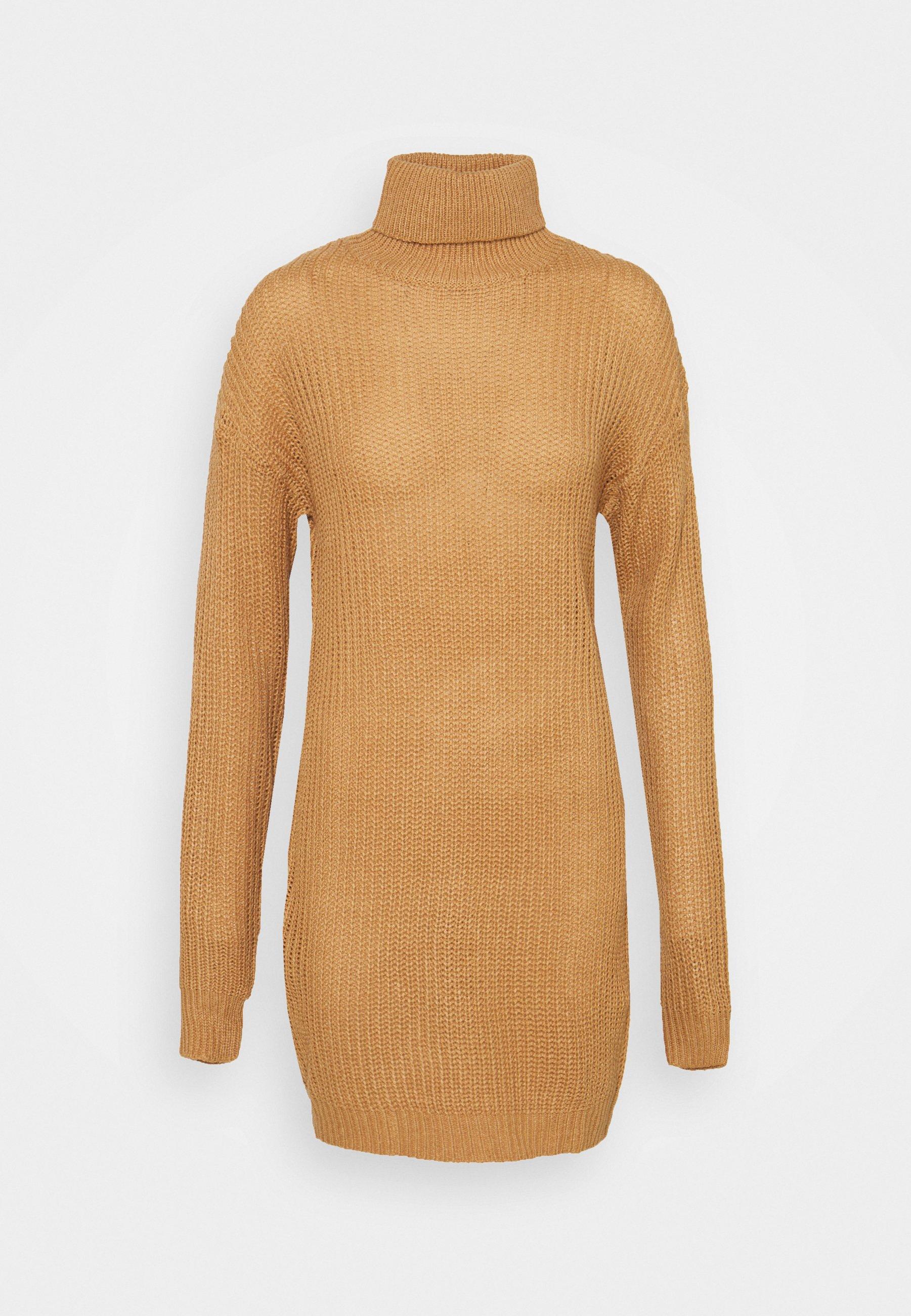 Women ROLL NECK BASIC DRESS - Jumper dress