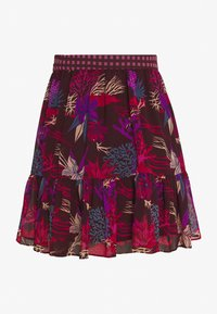 Scotch & Soda - PRINTED RUFFLE SKIRT - Minirok - black/pink/blue - 1