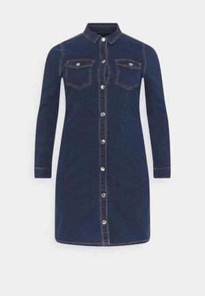 PCSILIA DRESS - Day dress - dark blue denim