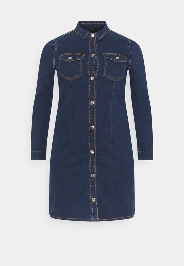 PCSILIA DRESS - Korte jurk - dark blue denim