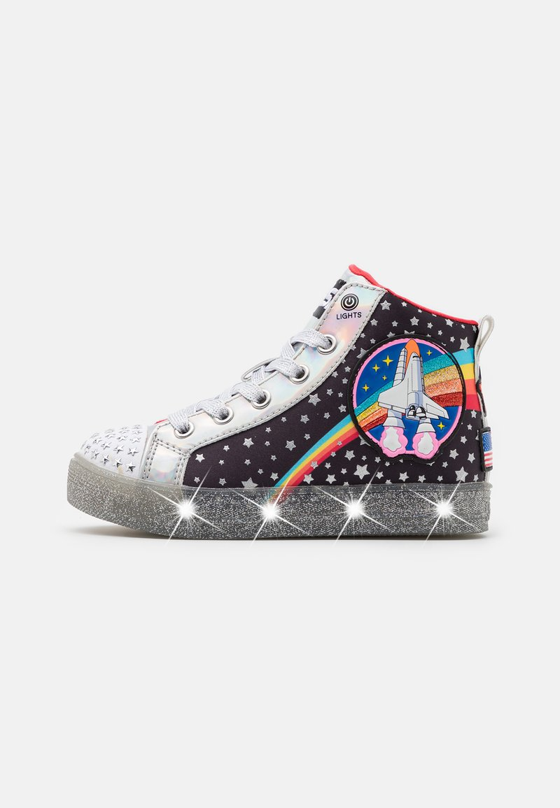 Skechers - SHUFFLE BRIGHTS - High-top trainers - black/multicolor/silver