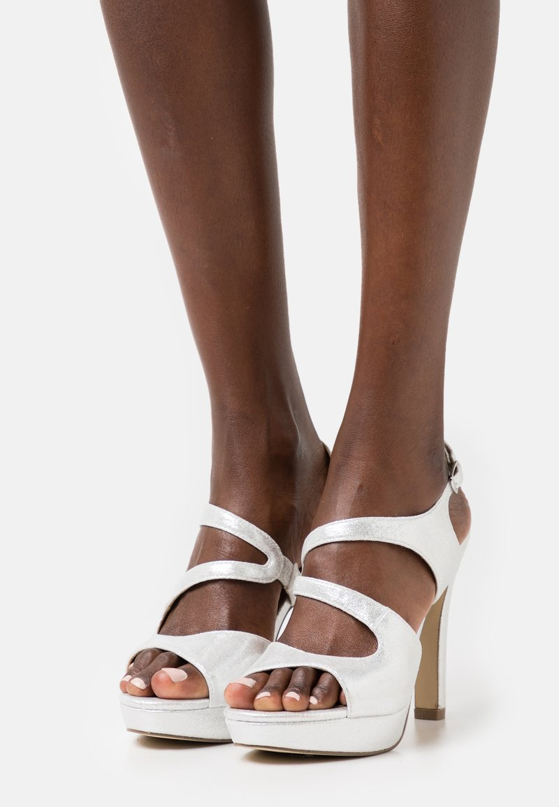 Menbur - Sandály na vysokém podpatku - silber