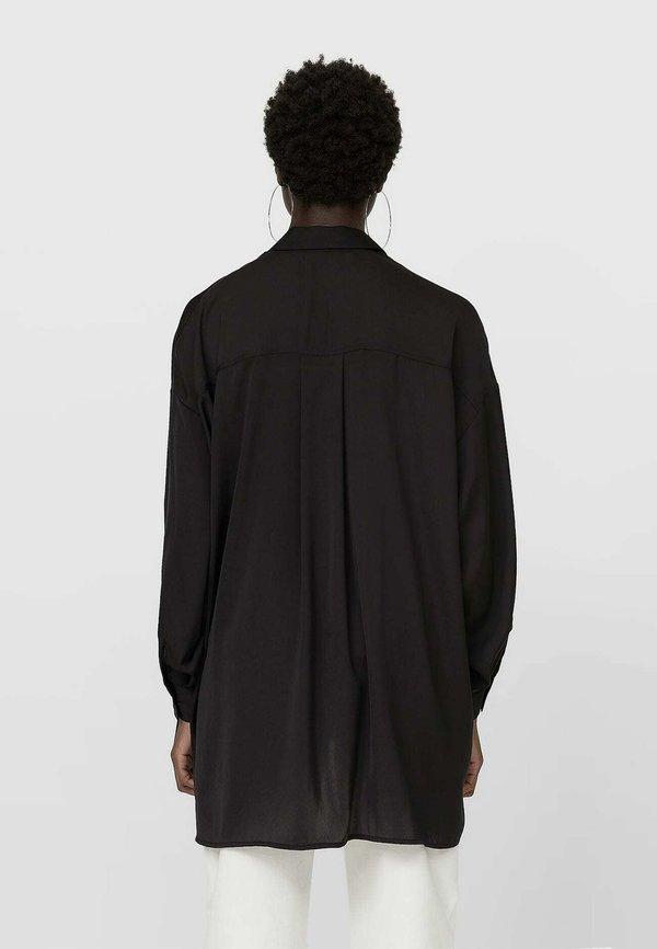 Stradivarius Koszula - black/czarny DYMQ