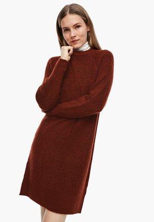 Jumper dress - brown melange