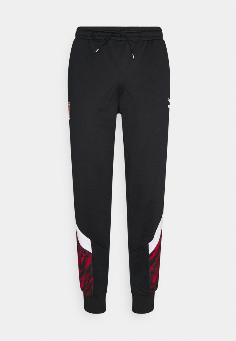 Puma - AC MAILAND ICONIC GRAPHIC TRACK PANTS - Club wear - tango red/black