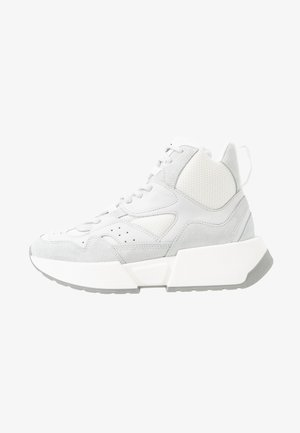 High-top trainers - bright white