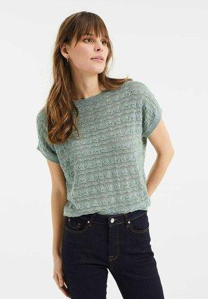 Print T-shirt - mint green