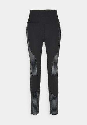 TONAL PRINT DETAIL LEGGING - Tights - black/grey