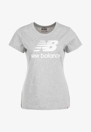 STACKED LOGO  - Print T-shirt - athletic grey