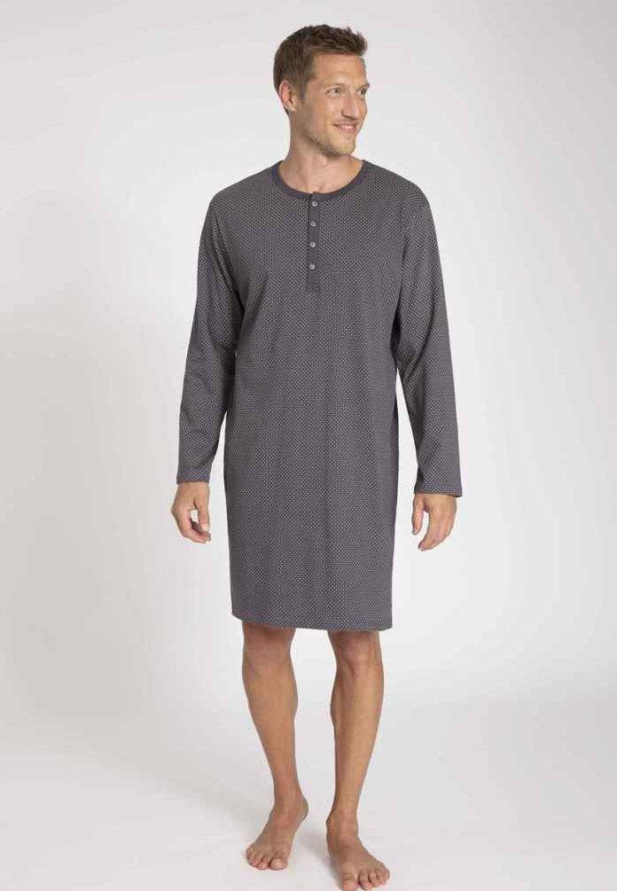 Herren MIT KNOPFLEISTE - Nachtwäsche Shirt