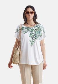 Elena Mirò - Print T-shirt - bianco - 0