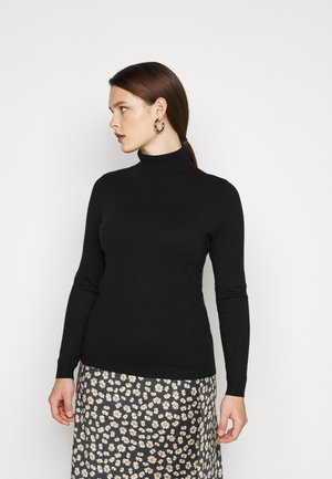 VMHAPPINESS ROLLNECK  - Strikkegenser - black
