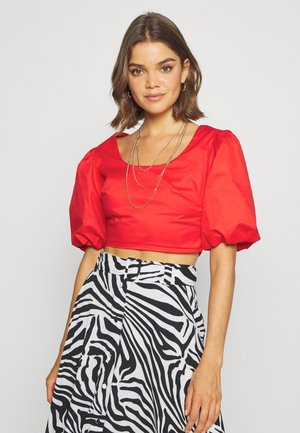 CROP - Blouse - red